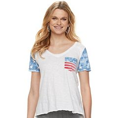 Women's Rock & Republic® Flag Pocket Tee