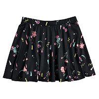 Girls 7-16 SO® Printed Skater Skirt