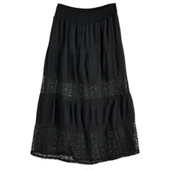 Girls 7-16 Joey B Gauze Tiered Maxi Skirt