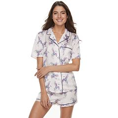 Women's Apt. 9® Satin Shirt & Shorts Set