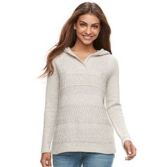 Petite SONOMA Goods for Life™ Supersoft Hooded Sweater