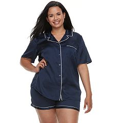 Plus Size Apt. 9® Satin Shirt & Shorts Set