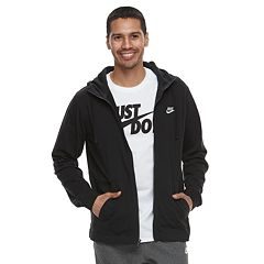 71f9bbf21d9e Big   Tall Nike Full-Zip Jersey Hoodie. Black ...