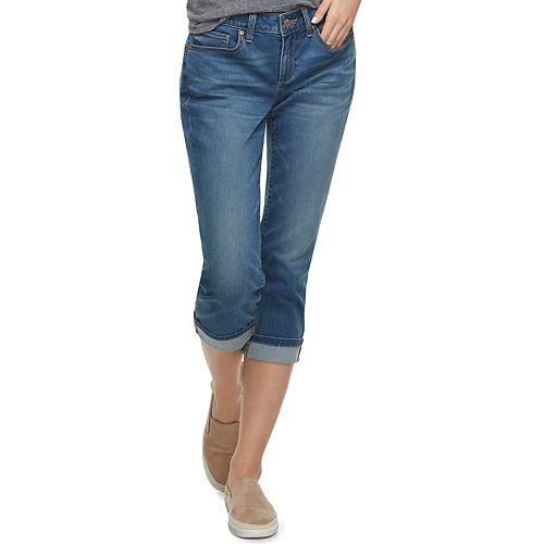 43d04a6600965 Women's SONOMA Goods for Life™ Curvy Cuffed Capri Jeans