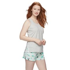 Women's SONOMA Goods for Life™ Printed Tank & Shorts Pajama Set