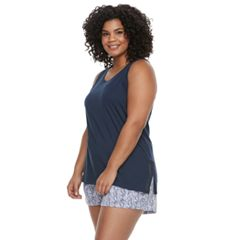 Plus Size SONOMA Goods for Life™ Printed Tank & Shorts Pajama Set