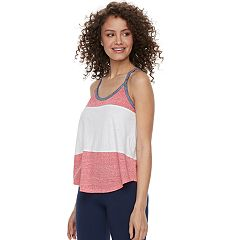 Juniors' SO® Colorblock Racerback Tank