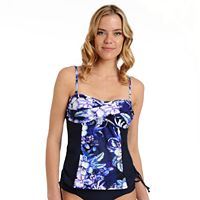 Women's Cyn and Luca Printed Bandeaukini Top
