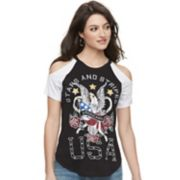 "Women's Rock & Republic® ""USA"" Cold-Shoulder Tee"