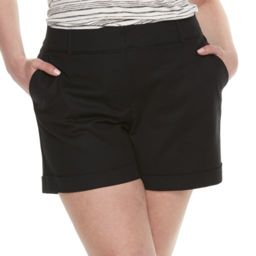 Plus Size Apt. 9® Torie Cuffed Shorts