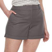 Plus Size Apt. 9® Torie Cuffed Shorts