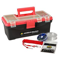Wakeman Outdoors 55-Piece Single-Tray Fishing Tackle Box