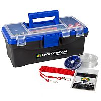 Wakeman Outdoors 55 pc Single-Tray Fishing Tackle Box