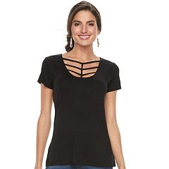 Women's Rock & Republic® Strappy Scoopneck Tee