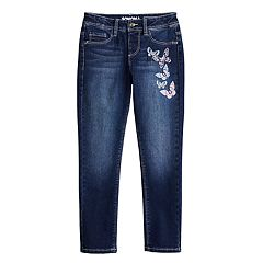 Girls 4-10 SONOMA Goods for Life® Butterfly Embroidered Jeggings