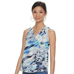 Women's Jennifer Lopez Lurex-Trim Crepe Tank