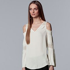 Women's Simply Vera Vera Wang Smocked Cold-Shoulder Top