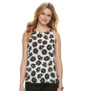 Women's Apt. 9® Zipper Accent Georgette Tank