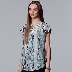 Women's Simply Vera Vera Wang Print Peasant Top