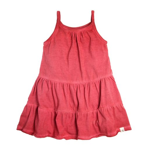 Baby Girl Burt's Bees Baby Tiered Dress & Floral Bloomer Set