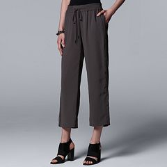 Women's Simply Vera Vera Wang Wide-Leg Crop Pants