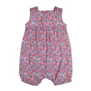 Baby Girl Burt's Bees Baby Floral Bubble Romper