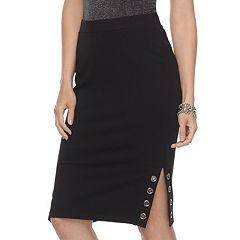 Women's Jennifer Lopez Grommet Ponte Pencil Skirt
