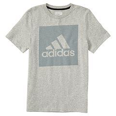 Boys 4-7x adidas Logo Gray Graphic Tee