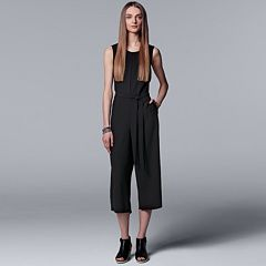 Women's Simply Vera Vera Wang Crop Wide-Leg Jumpsuit