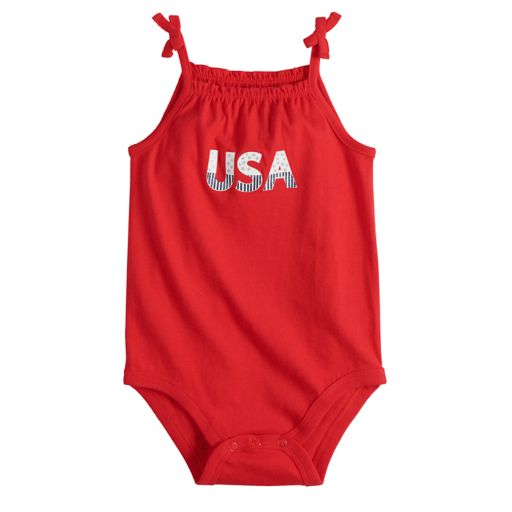 Baby Girl Jumping Beans® Patriotic Tank Bodysuit