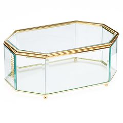 LC Lauren Conrad Glass Geometric Jewelry Box