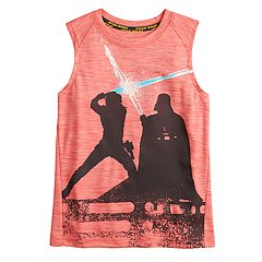 Boys 4-7x Star Wars a Collection for Kohl's Luke Skywalker and Darth Vader Light Saber Tank
