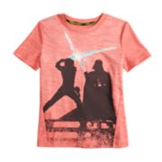 Boys 4-7x Star Wars a Collection for Kohl's Luke Skywalker and Darth Vader Light Saber Tee