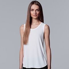 Women's Simply Vera Vera Wang Ribbed Tank