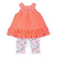 Toddler Girl Little Lass Sequin Tank Top & Print Bike Shorts Set