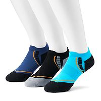 Men's PowerSox 3-Pack Apex Pro Double Tab No-Show Socks