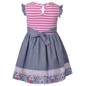 Baby Girl Bonnie Jean Print Lace-Trim Dress