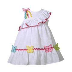 Baby Girl Bonnie Jean Butterfly Seersucker Dress