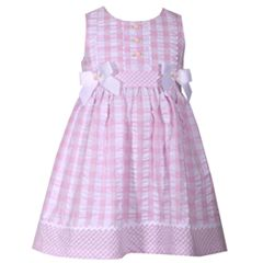 Baby Girl Bonnie Jean Checked Seersucker Dress