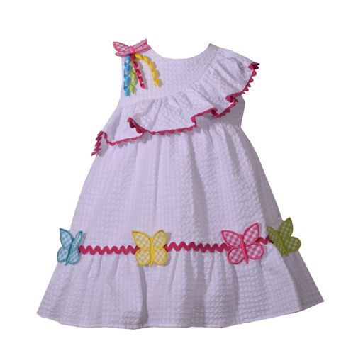 Toddler Girl Bonnie Jean Butterfly Seersucker Dress