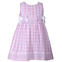 Toddler Girl Bonnie Jean Checked Seersucker Dress