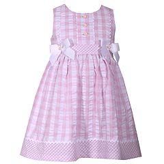 Toddler Girl Bonnie Jean Checked Seersucker Dress