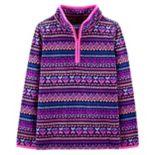 Girls 4-14 OshKosh B'gosh® Fairisle 1/2-Zip Fleece Pullover