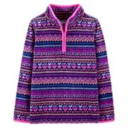 Girls 4-14 OshKosh B'gosh® Fairisle 1/2-Zip Fleece Pullover