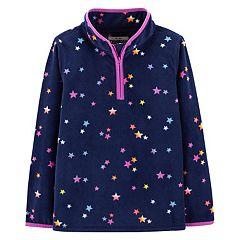 Girls 4-12 OshKosh B'gosh® Star 1/2-Zip Microfleece Pullover