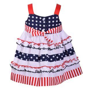 Toddler Girl Bonnie Jean Star & Stripe Print Dress