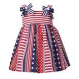 Toddler Girl Bonnie Jean Stars & Stripes Poplin Dress