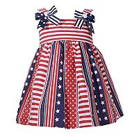 Toddler Girl Bonnie Jean Stars & Stripes Poplin Dress