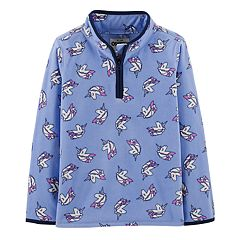 Girls 4-14 OshKosh B'gosh® Unicorn 1/2-Zip Fleece Pullover