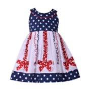 Toddler Girl Bonnie Jean Star Print Bow Dress